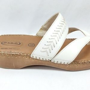 Dr Scholls Double Air Pill Size 7.5 White Sandals